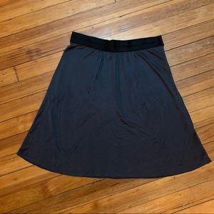 Alessandro Dell'Acqua dark blue skirt satin waist6